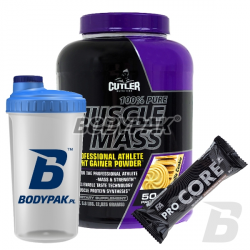 Jay Cutler 100% Pure Muscle Mass - 2625g + [FA ProCore Protein Bar 80g + Shaker BODYPAK 700ml] GRATIS
