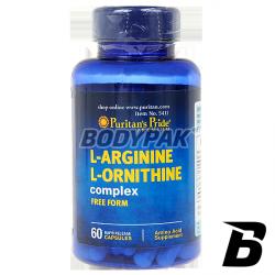 Puritans Pride L-Arginine L-Ornithine Complex - 60 kaps.