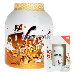 FA Nutrition Whey Protein - 2270g + Vitamin C with Rose Hip Extract - 100 tabl.