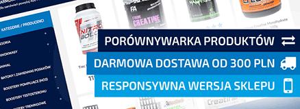 Porównywarka produktów, Darmowa Dostawa od 300 PLN, Responsywna wersja sklepów