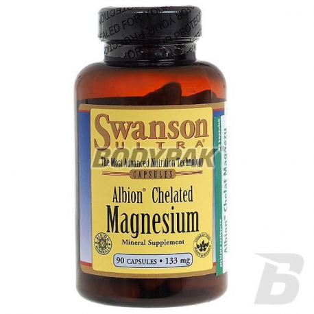 Swanson Albion Chelated Magnesium 133mg - 90 kaps.