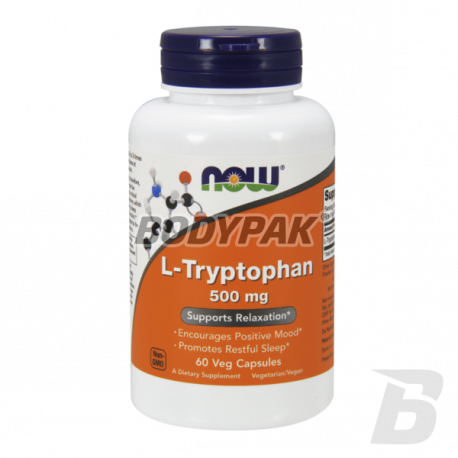 NOW Foods L-Tryptophan 500 mg - 60 kaps.