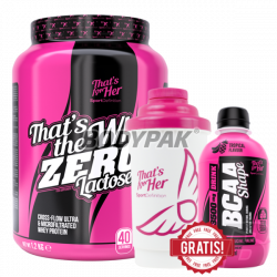Sport Definition That's The Whey ZERO [THAT'S FOR HER] - 1,2kg +  Shaker Nano THAT'S FOR HER 500ml - 1 szt. + BCAA Shape - 250ml