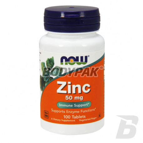 NOW Foods Zinc Gluconate 50mg - 100 tabl.