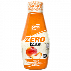6PAK Nutrition Syrup ZERO PEACH - 400ml