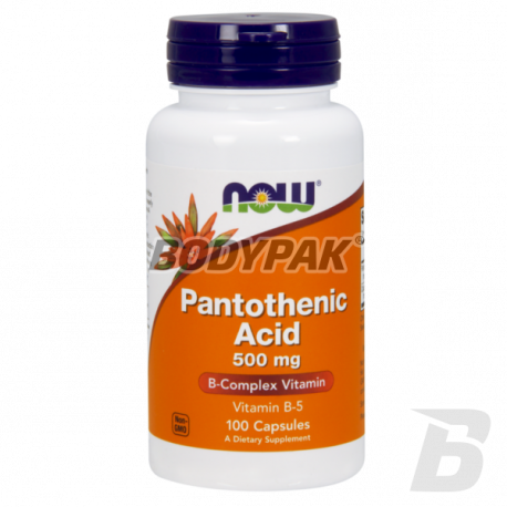 NOW Foods Pantothenic Acid 500mg - 100 kaps.