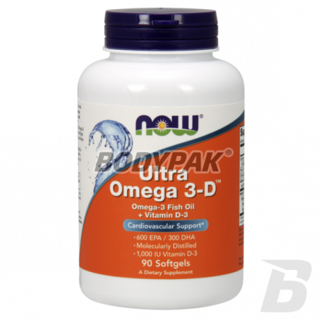 NOW Foods Ultra Omega-3 with D-3 - 90 kaps.