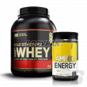 ON 100% Whey Gold Standard - 2270g + Amino Energy - 270g