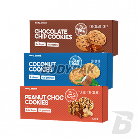 Body Attack Low Carb Cookies - 115g-150g