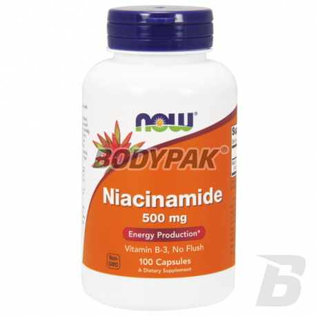 NOW Foods Niacinamide 500mg - 100 kaps.