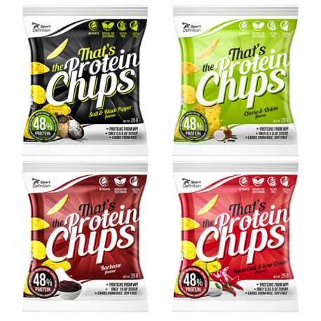 Sport Definition That's The Protein CHIPS [mix smaków] -  4 x 25g