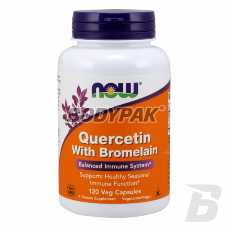 NOW Foods Quercetin with Bromelain - 120 kaps.