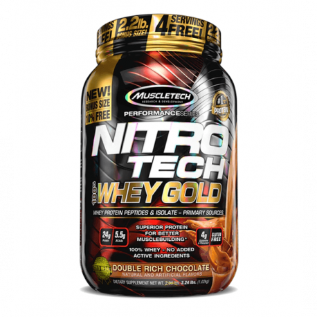 MuscleTech Nitro-Tech 100% Whey Gold - 998 g