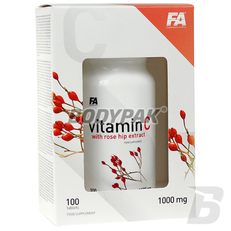 FA Nutrition Vitamin C with Rose Hip Extract - 100 tabl.
