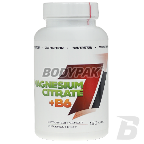 7NUTRITION MAGNESIUM CITRATE + B6 - 120KAPS
