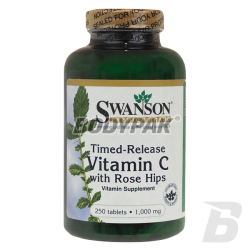 Swanson Vitamin C1000 with Rose Hips [Timed Release] - 250 kaps.