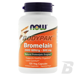 NOW Foods Bromelain - 120 kaps.