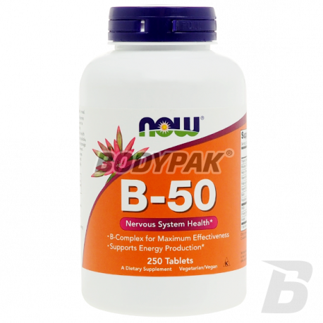 NOW Foods Vitamin B-50 - 250 kaps.